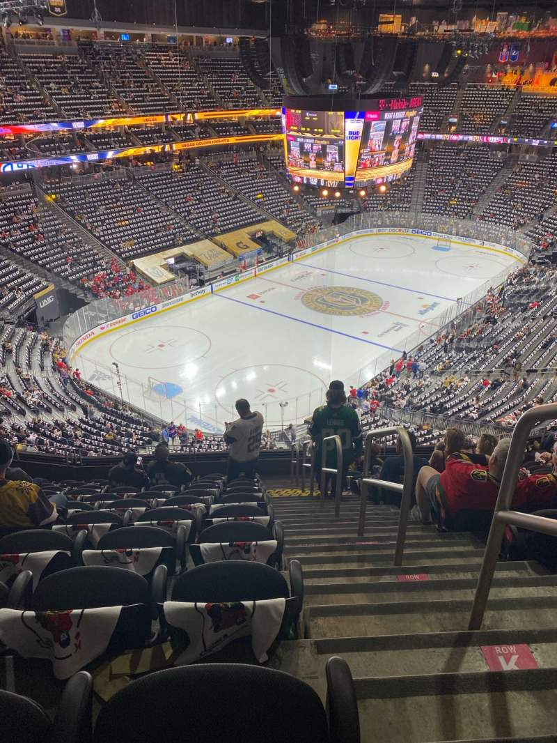Seating view for T-Mobile Arena Section 217 Row L Seat 18