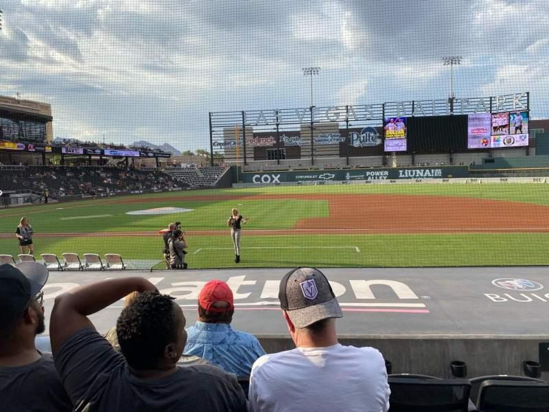 Seating view for Las Vegas Ballpark Section 107 Row J Seat 17