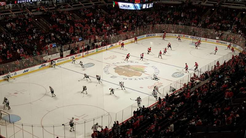 Seating view for United Center Section 322 Row 6 Seat 12