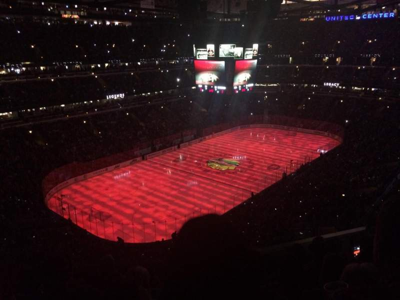 United Center, section 322, row 6, seat 11 - Chicago ...