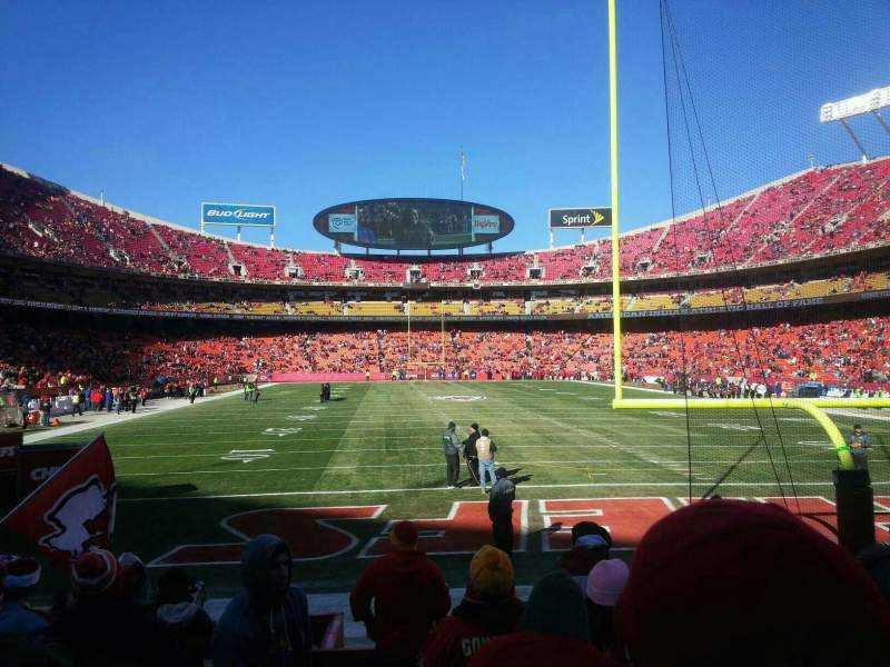 Seating view for Arrowhead Stadium Section 110 Row 8 Seat 28