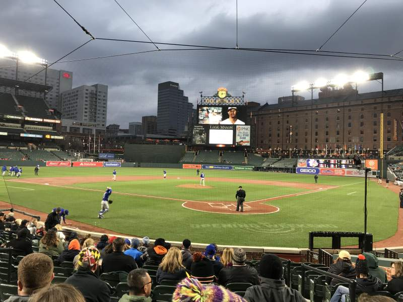 Seating view for Oriole Park at Camden Yards Section 40 Row 14 Seat 2