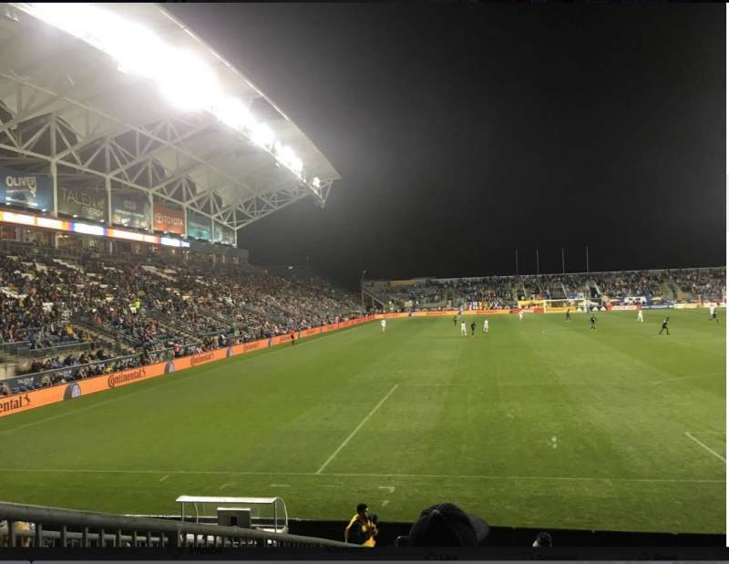 Seating view for Talen Energy Stadium Section 118 Row K