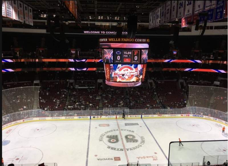 Seating view for Wells Fargo Center Section 224 Row 8 Seat 5