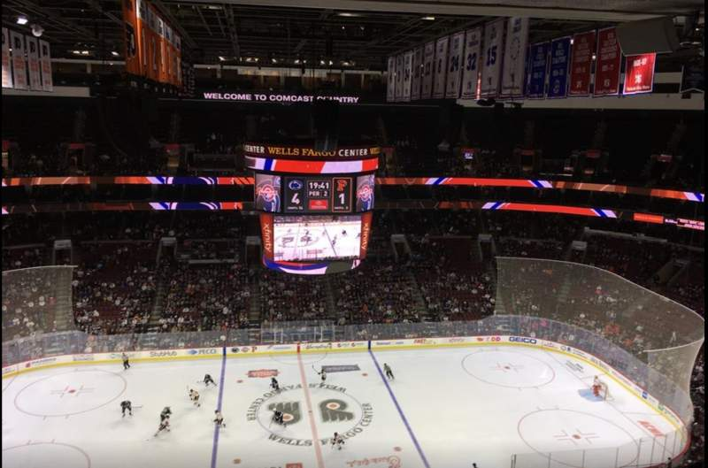 Seating view for Wells Fargo Center Section 224 Row 15 Seat 1