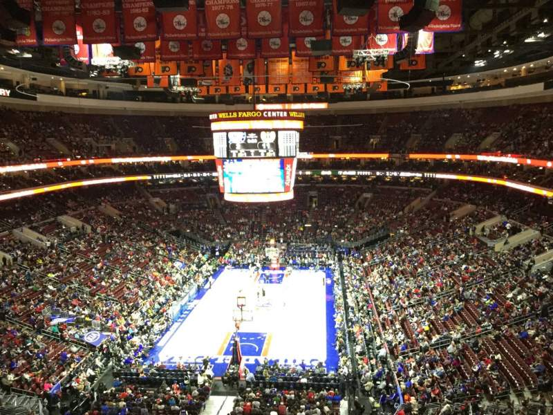Seating view for Wells Fargo Center Section 207A Row 5 Seat 1