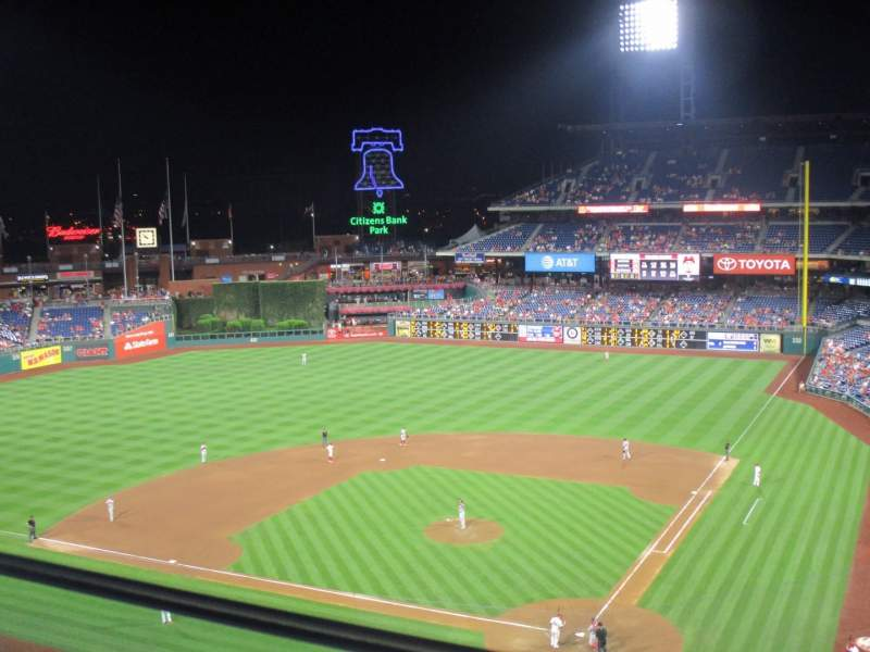 Seating view for Citizens Bank Park Section 322 Row 1 Seat 1