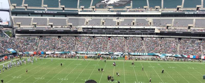 Seating view for Lincoln Financial Field Section C1 Row 4 Seat 1