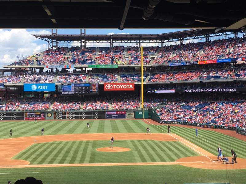 Seating view for Citizens Bank Park Section 130 Row RAIL Seat SRO
