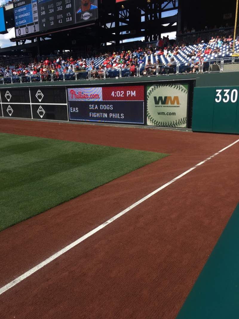 Seating view for Citizens Bank Park Section 108 Row 11 Seat 18