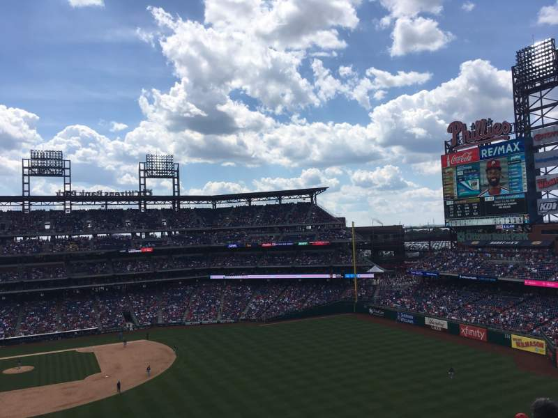 Seating view for Citizens Bank Park Section 303 Row 6 Seat 22