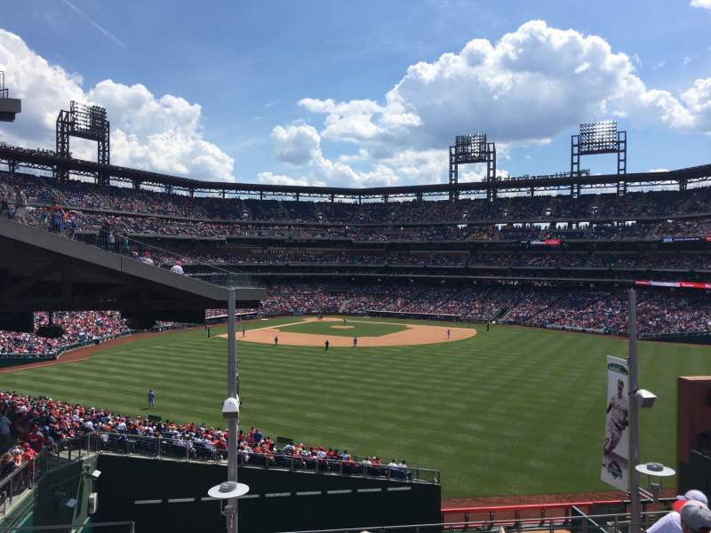Seating view for Citizens Bank Park Section ROOFTOP BLEACHERS Row 6 Seat 1
