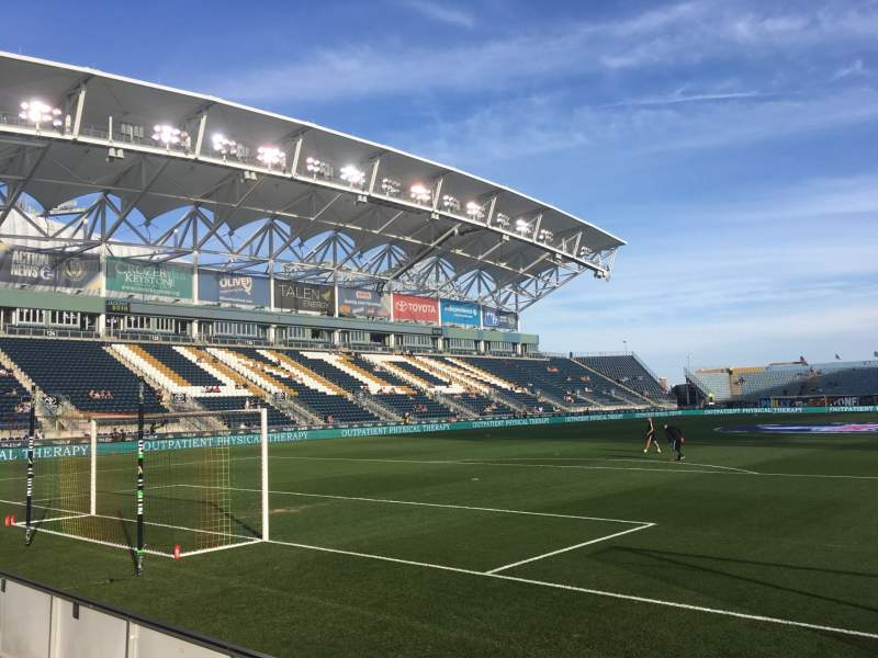 Seating view for Talen Energy Stadium Section 116 Row 1 Seat 1
