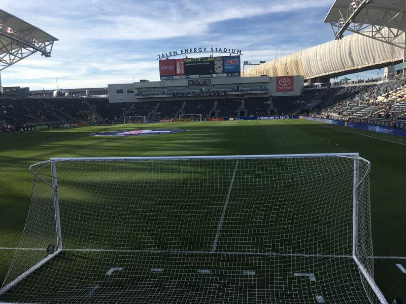 Seating view for talen energy stadium Section 136 Row 1 Seat 1
