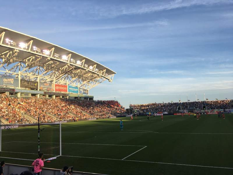 Seating view for talen energy stadium Section 116 Row E Seat 1