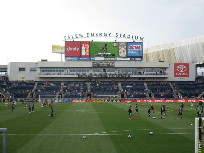 Seating view for talen energy stadium Section 139 Row 1 Seat 1