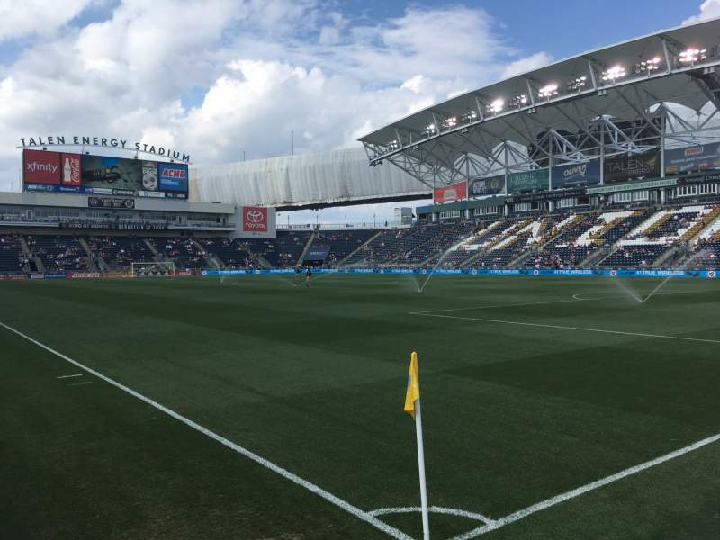 Seating view for Talen Energy Stadium Section 101 Row 1 Seat 1