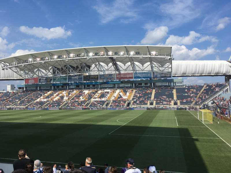 Seating view for Subaru Park Section 103 Row S Seat 15