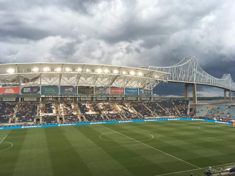 Seating view for Subaru Park Section 310 Row 2 Seat 1