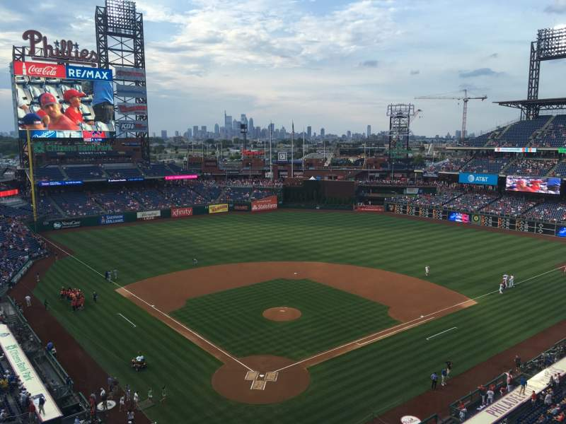 Seating view for Citizens Bank Park Section 320 Row 2 Seat 11