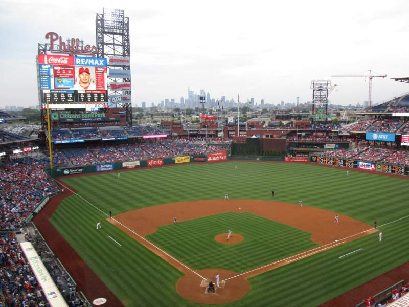 Seating view for Citizens Bank Park Section 320 Row 2 Seat 10