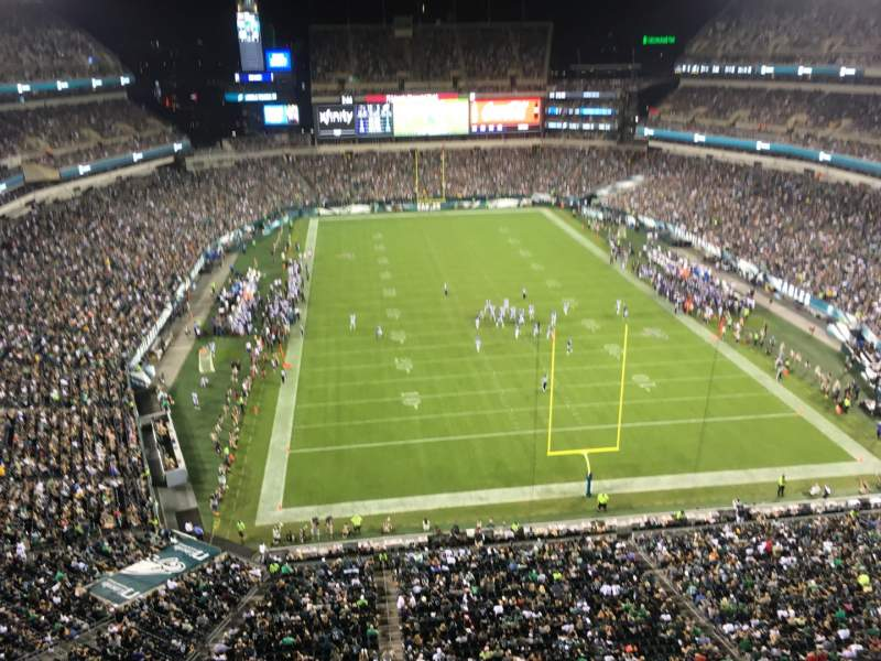 Seating view for Lincoln Financial Field Section 212 Row 12 Seat 1