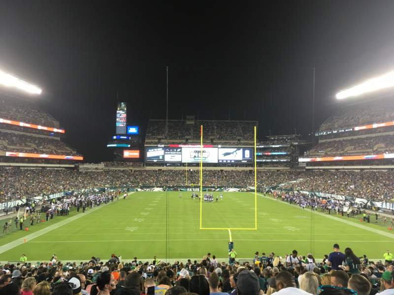 Seating view for Lincoln Financial Field Section 110 Row 31 Seat 6