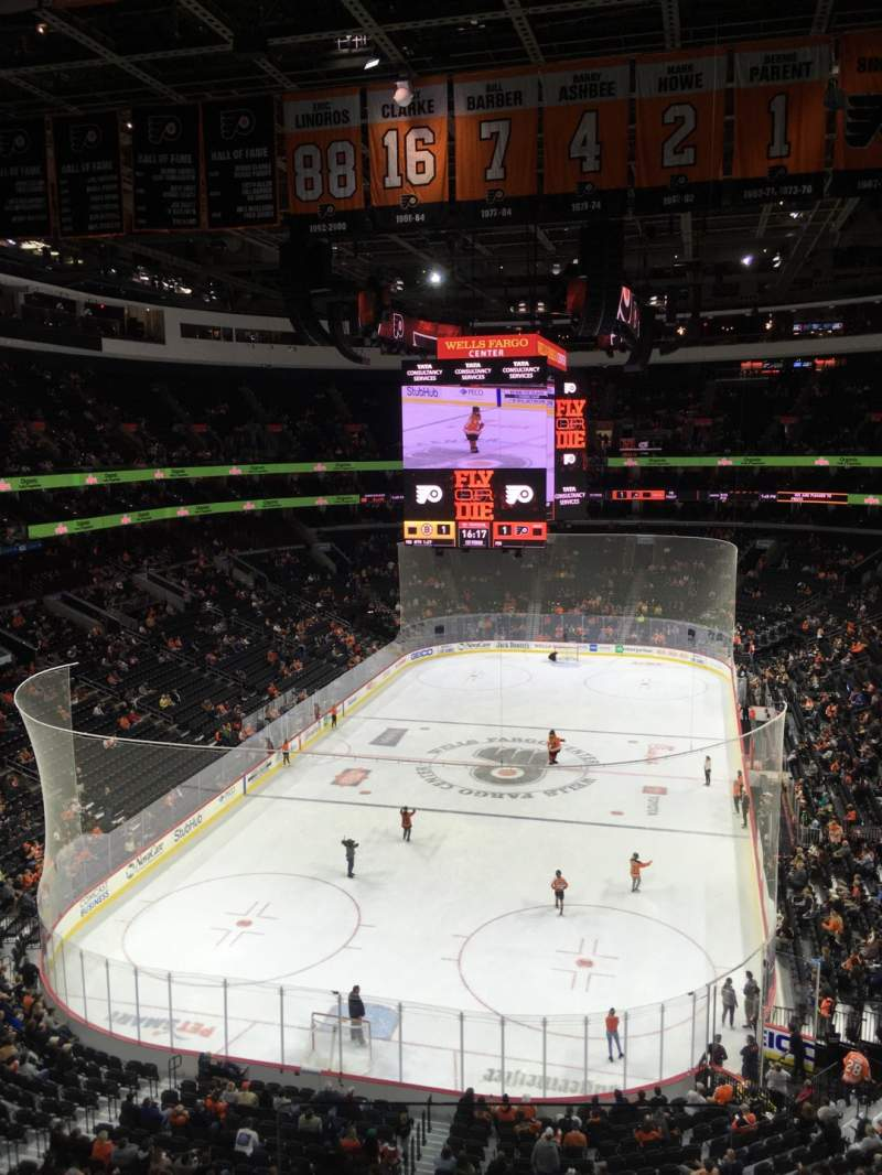 Seating view for Wells Fargo Center Section 219A Row 3 Seat 1