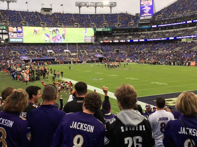 Seating view for M&T Bank Stadium Section 146 Row 17 Seat 1