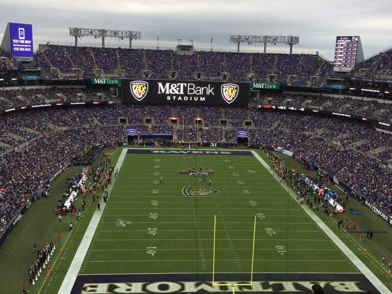 Seating view for M&T Bank Stadium Section 541 Row 19 Seat 6