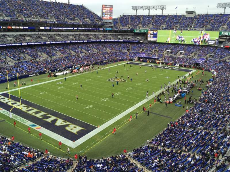 Seating view for M&T Bank Stadium Section MCCORMICK Row Sro Seat SRO