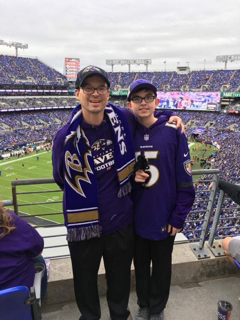 Seating view for M&T Bank Stadium Section 535 Row 1 Seat 1