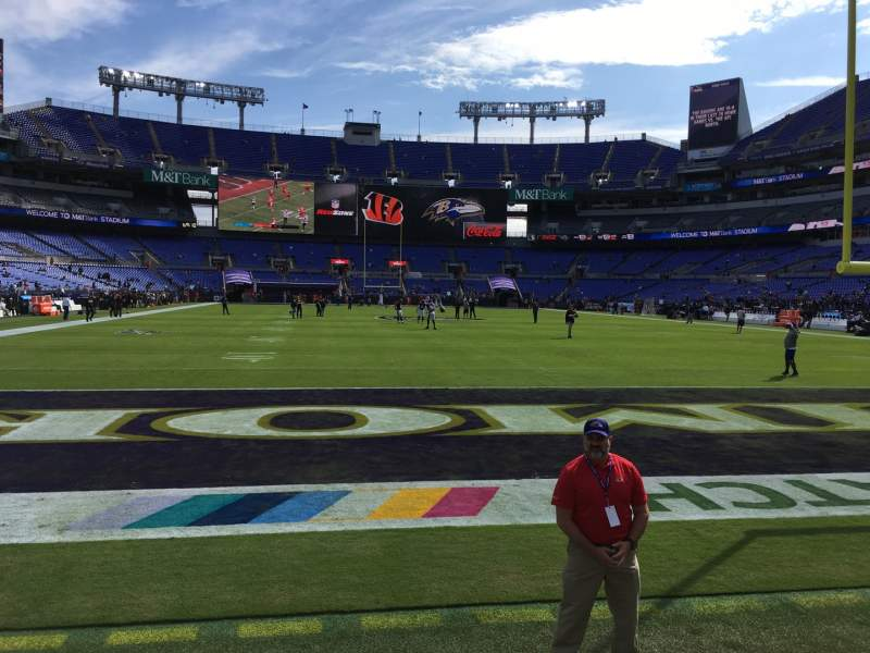 Seating view for M&T Bank Stadium Section 141 Row 1 Seat 1