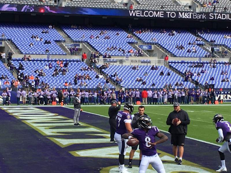 Seating view for M&t bank stadium Section 132 Row 1 Seat 5