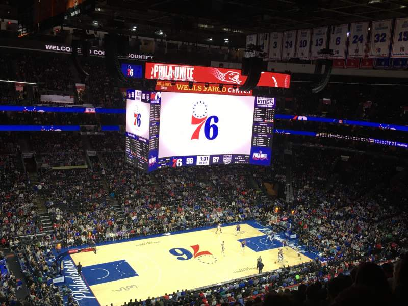 Seating view for Wells Fargo Center Section 223 Row 10 Seat 1