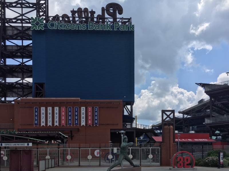 Seating view for Citizens Bank Park Section Left Field Gate