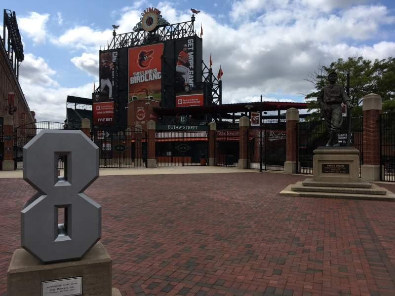 Seating view for Oriole Park at Camden Yards Section REAR Row Exterior