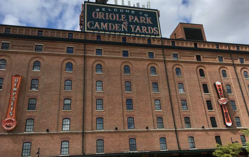 Seating view for Oriole Park at Camden Yards Section WAREHOUSE Row EXTERIOR