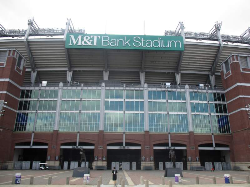 Seating view for M&T Bank Stadium Section Gate A