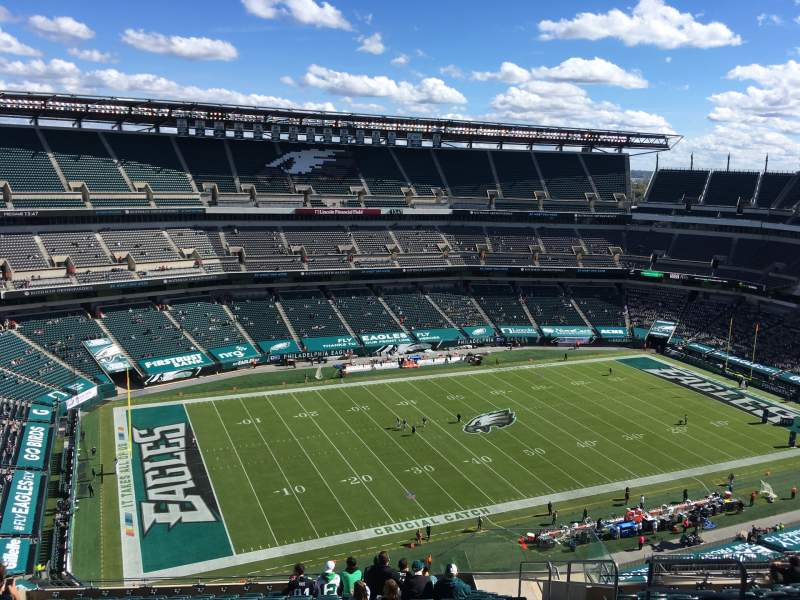 Seating view for Lincoln Financial Field Section 241 Row 21