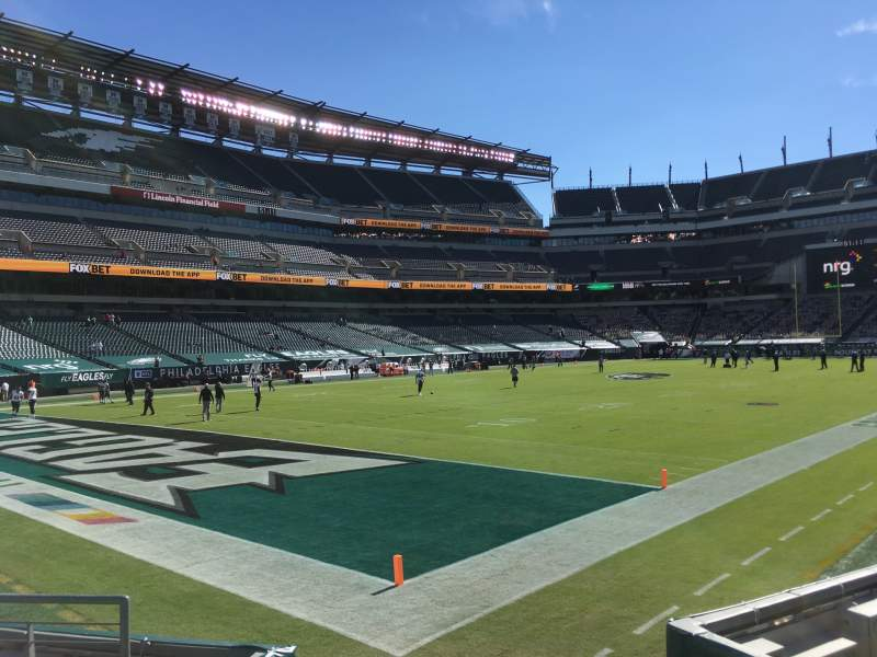 Seating view for Lincoln Financial Field Section 133 Row 6 Seat 1