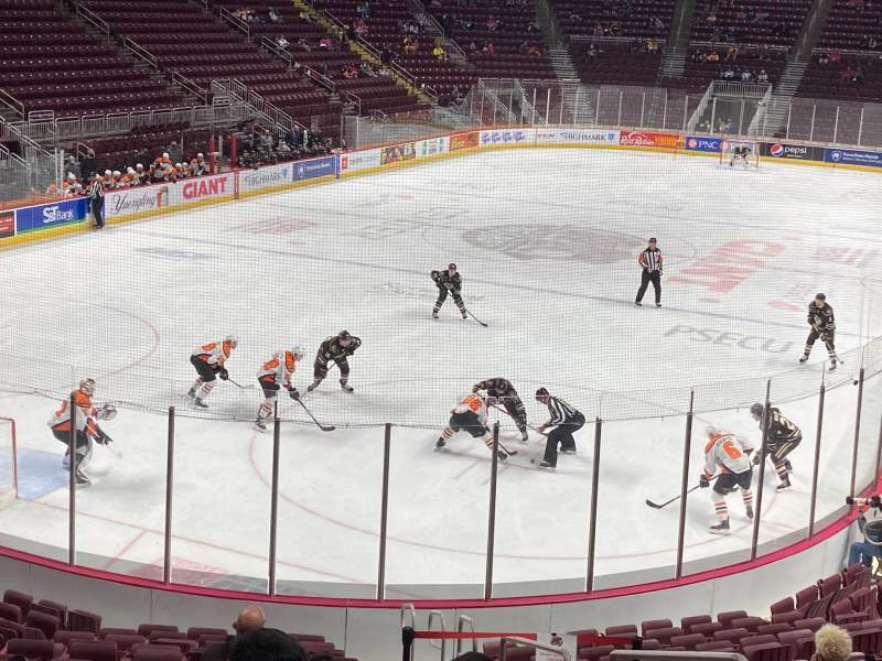 Seating view for Giant Center Section 102 Row S Seat 3