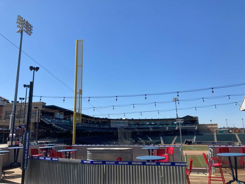 Seating view for Coca-Cola Park Section GA Row Bud Seat Light