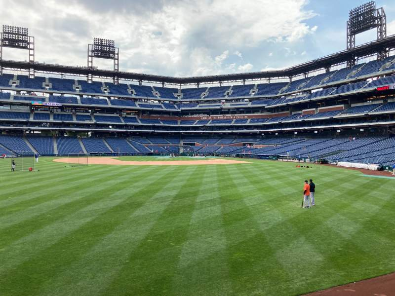 Seating view for Citizens Bank Park Section 145 Row 1 Seat 1