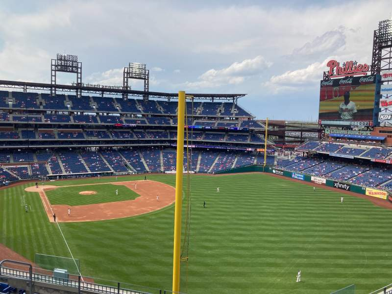 Seating view for Citizens Bank Park Section 306 Row 8 Seat 7