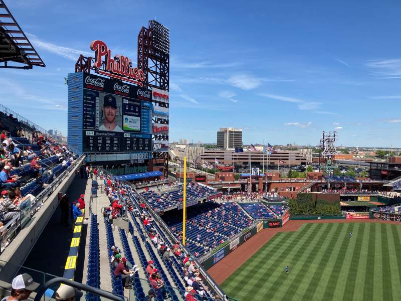 Seating view for Citizens Bank Park Section 431 Row 4 Seat 23