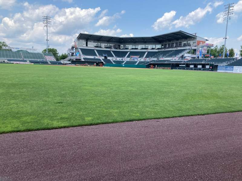 Seating view for FNB Field Section CENTER Row FIELD Seat WARNING TRACK