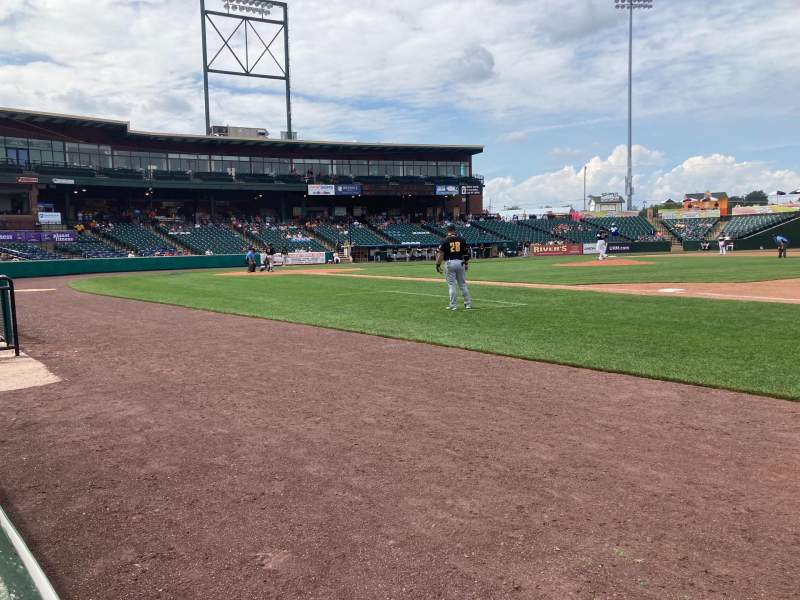 Seating view for PeoplesBank Park Section 4 Row A Seat 1