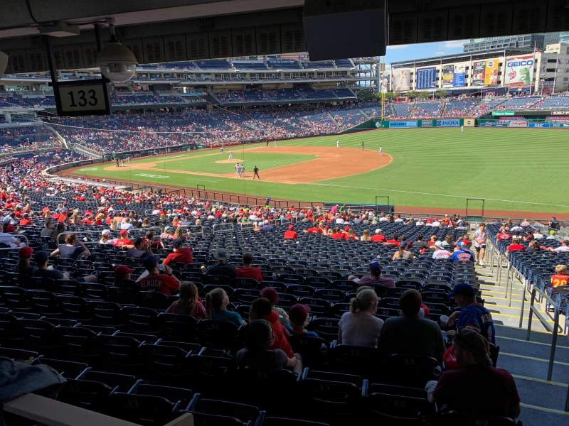 Seating view for Nationals Park Section 133 Row WW Seat 1