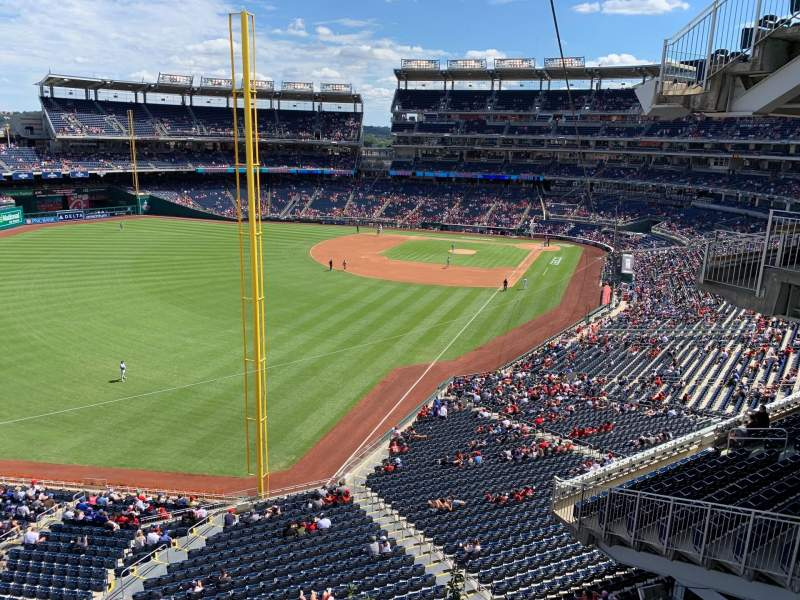 Seating view for Nationals Park Section RAMP Row NEAR Seat 201